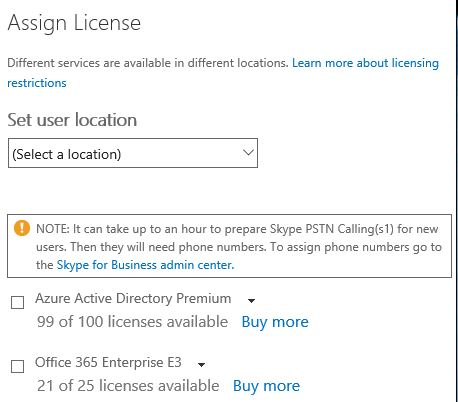 Bulk provisioning Office 365 licenses and services script