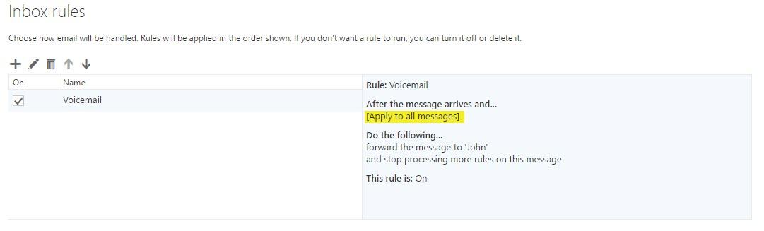 Auto forward Azure Voicemail messages