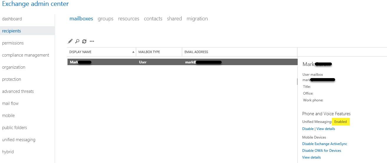 Enable-CsOnlineUMMailbox results in 500 Internal Server Error