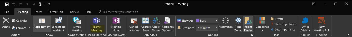 Missing Teams Outlook Add-in