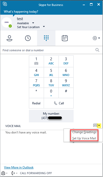 uspvm 1 - How To Get Dial Pad In Skype For Business
