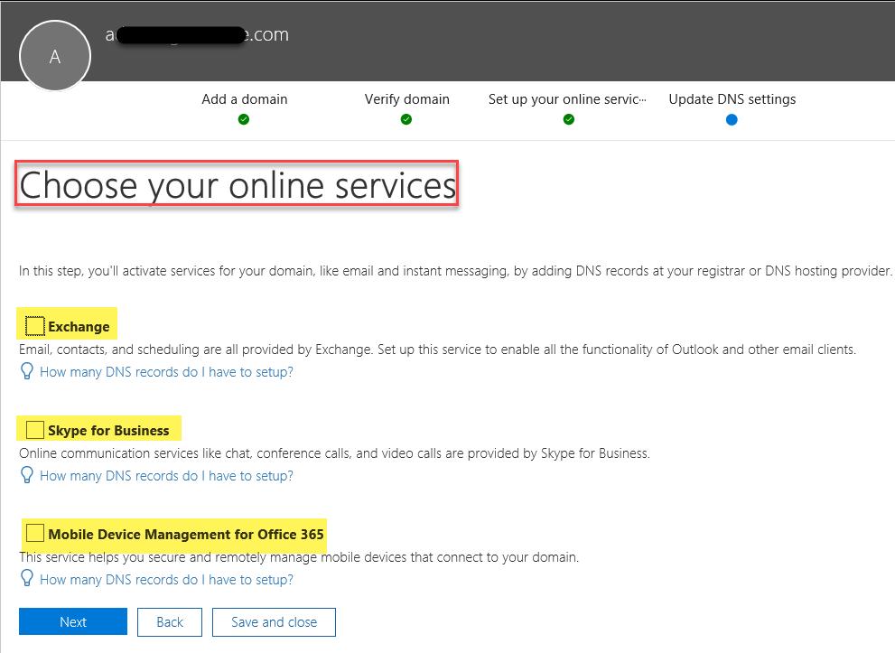 Set Office 365 Domain Purpose via Admin Center